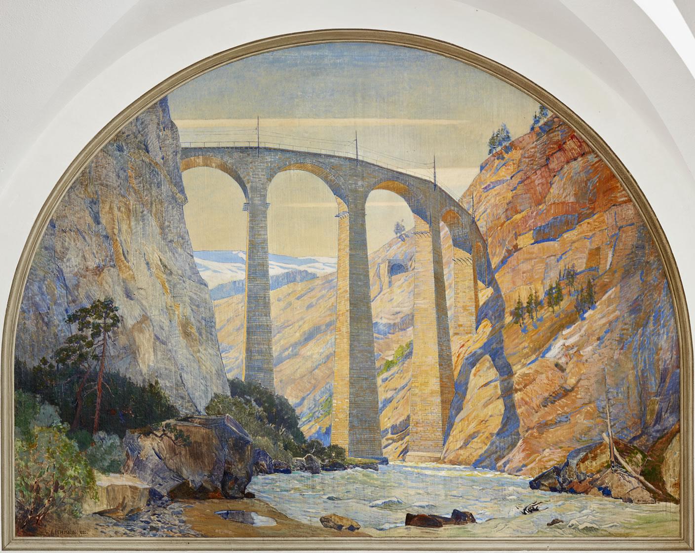 The Landwasser Viaduct Filisur, Rhaetian Railway, 1922